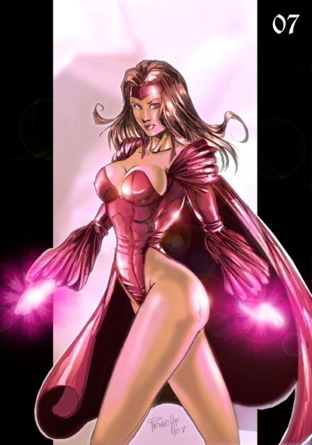 Bruja Escarlata MarvelGirls_ScarletWitch_color_by_Fpeniche