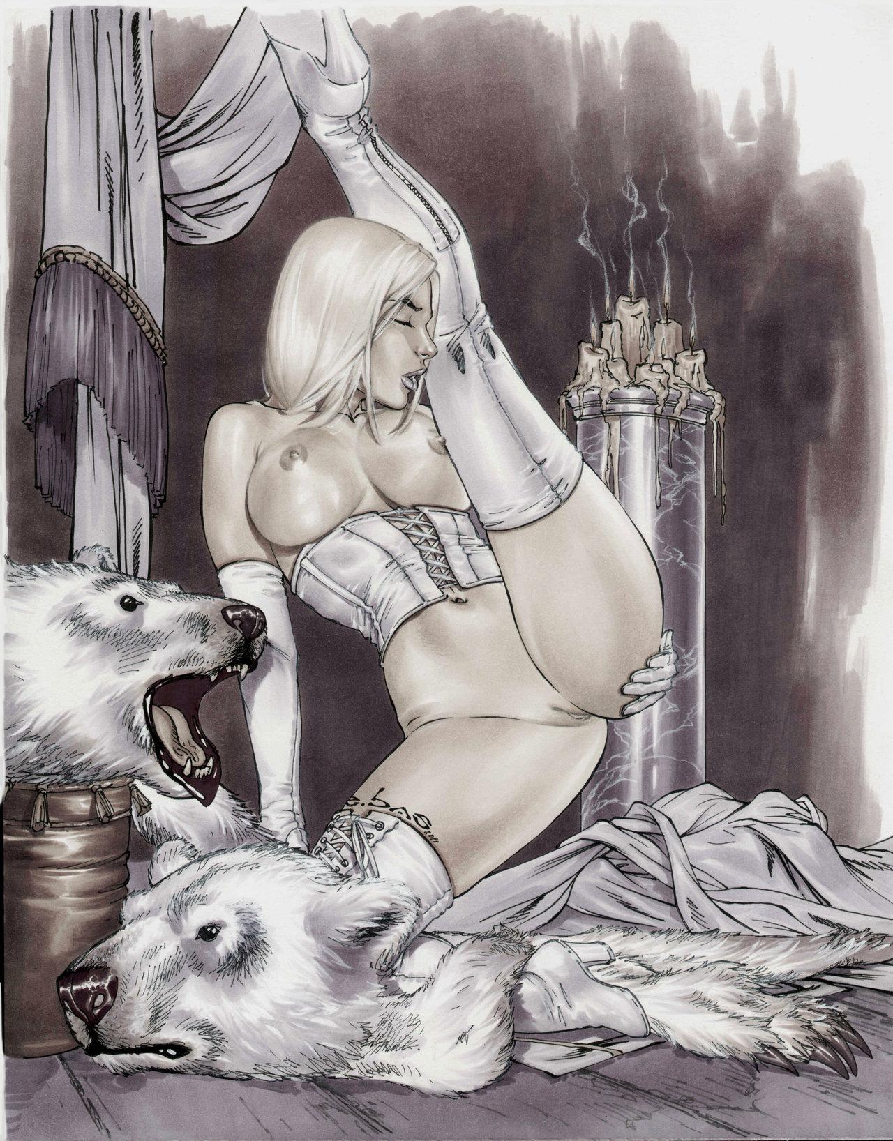 hot nude women of comic art