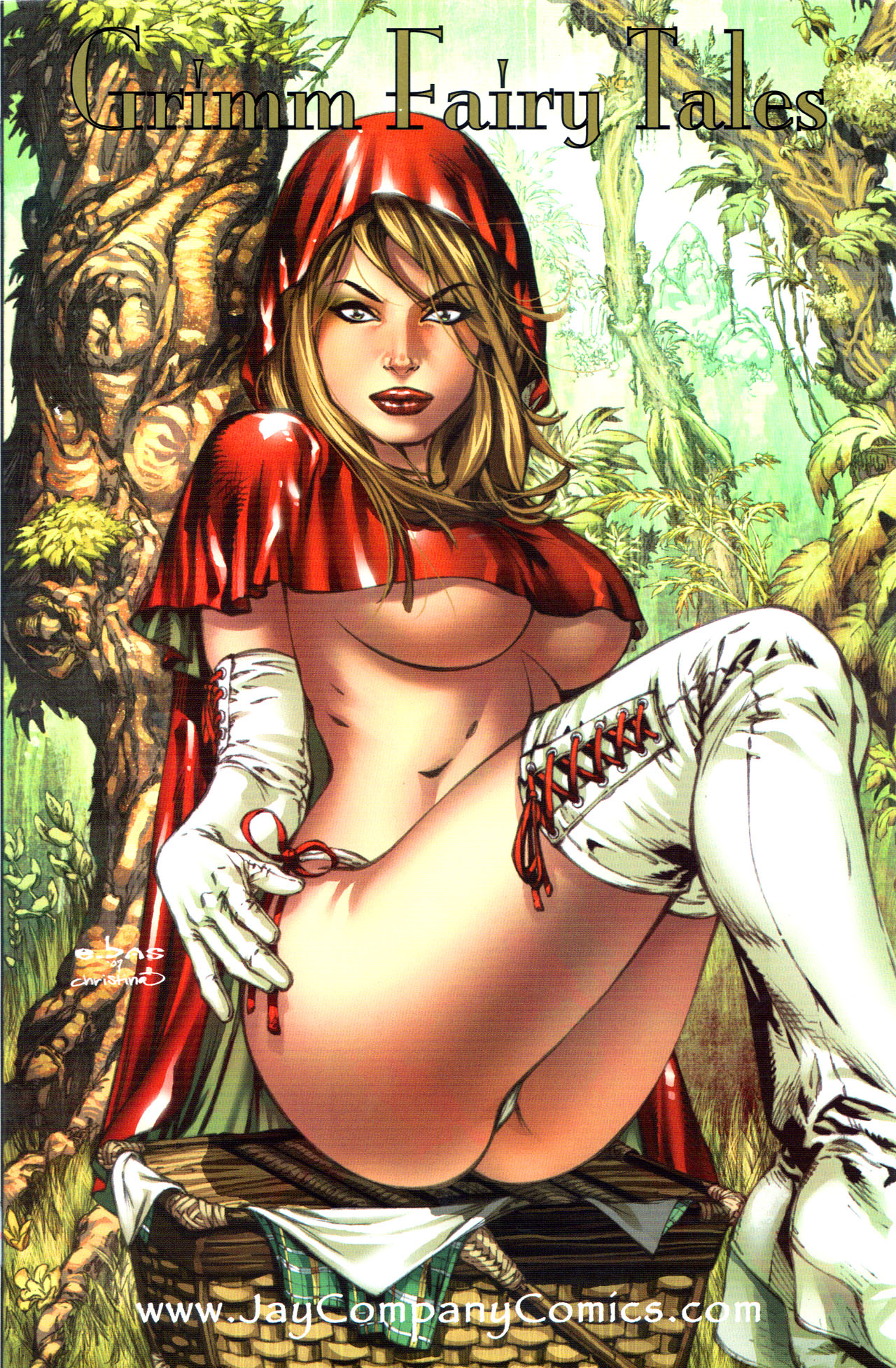 Sexy nude little red riding hood